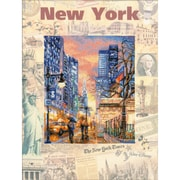 """Riolis® 11 3/4"""" x 15 3/4"""" Counted Cross Stitch Kit, Cities Of The World: New York"""