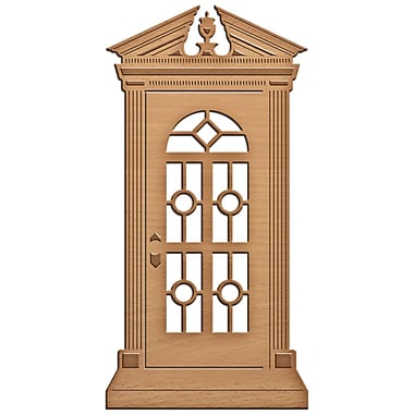 Spellbinders S2090 Brown Shape abilities Edwarian Door D-Lites Die Template, 2.38