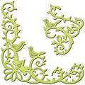Spellbinders® Shapeabilities D-Lites 2 7/8in. x 2 3/4in. Die Template, Bird Scrolls