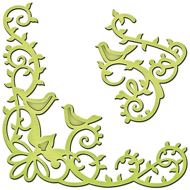 Spellbinders S2095 Green Shape abilities Bird Scrolls D-Lites Die Template, 2.88