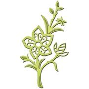 """Spellbinders® Shapeabilities D-Lites 2 x 3 5/8"""" Die Template, Flower Surprise"""