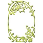 """Spellbinders S2110 Green Shape abilities Framed Floral D-Lites Die Template, 3.5"""" x 2.25"""""""
