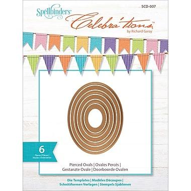Spellbinders SCD007 Brown Celebra'tions Cutting Die Template Pierced Ovals