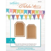 Spellbinders SCD011 Gold Celebra'tions Cutting Die Template Build-A-Tag Two