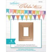 "Spellbinders SCD012 Brown Celebra'tions Pierced Rectangle Cutting Die Template, 4.13"" x 5.38"""