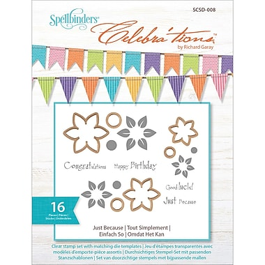 Spellbinders® Celebra'tions Die Template Set With Stamps, Just Because