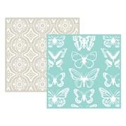 """We R Memory Keepers LEF6-3710 Goosebumpz Green Butterfly Embossing Folders, 6""""L x 6""""W"""