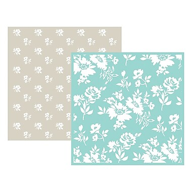 We R Memory Keepers LEF6-3714 Goosebumpz Green Flower Embossing Folders, 6