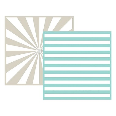 We R Memory Keepers LEF6-3717 Goosebumpz Green Striped Embossing Folders, 6
