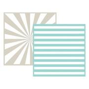 "We R Memory Keepers LEF6-3717 Goosebumpz Green Striped Embossing Folders, 6""L x 6""W"