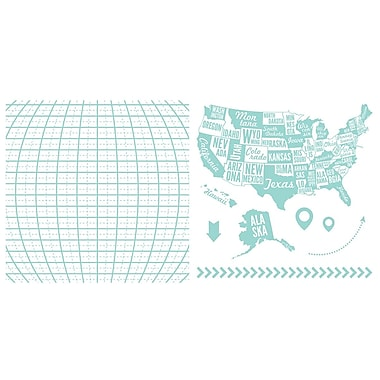 We R Memory Keepers LLPP-3744 Lifestyle Letterpress Map Printing Plate, 6.5