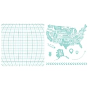 "We R Memory Keepers LLPP-3744 Lifestyle Letterpress Map Printing Plate, 6.5""L x 6.5""W"