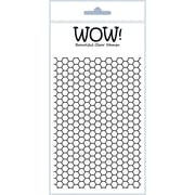 """Wow Embossing Powder 4"""" x 5 3/4"""" WOW! Clear Stamp Set, Sexi Hexi"""