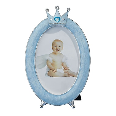Lillian Rose™ Oval Crown Baby Frame, Blue