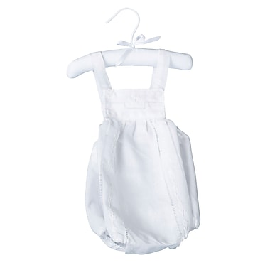 Lillian Rose™ Cotton Baby Romper, White