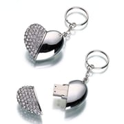 Lillian Rose™ USB Heart Keychain 1GB