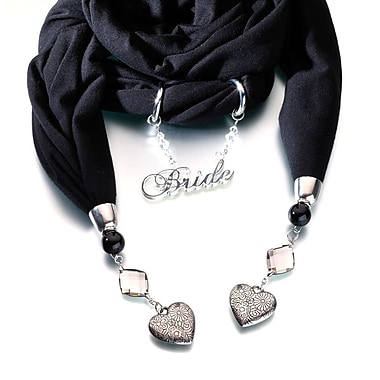 Lillian Rose™ Bride Scarf With Charms, Black