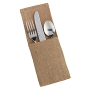 Lillian Rose™ Burlap Silverware Holder, 4/Set