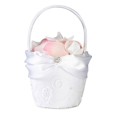 Lillian Rose™ Lace Flower Basket, White
