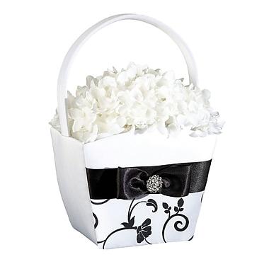 Lillian Rose™ Flower Basket, Black/White
