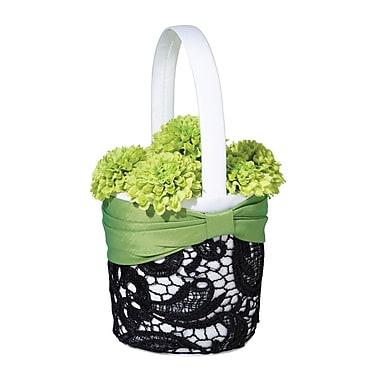 Lillian Rose™ Flower Basket, Green/Black