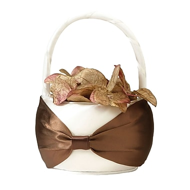 Lillian Rose™ Flower Basket, Brown/Cream