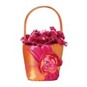 Lillian Rose™ Flower Basket, Hot Pink/Orange