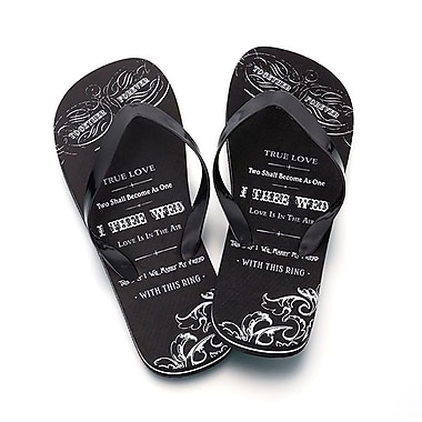 Lillian Rose™ True Love Men's Flip-Flops, Black, Medium