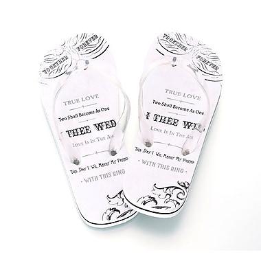 Lillian Rose™ True Love Women's Flip-Flops, White, Medium