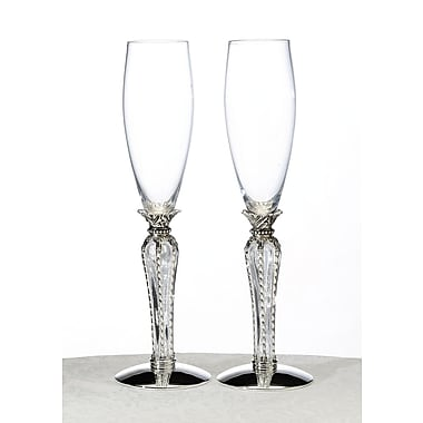 Lillian Rose™ Crown Toasting Glasses, 2/Set
