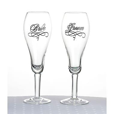 Lillian Rose™ Bride and Groom Toasting Glasses, 2/Set