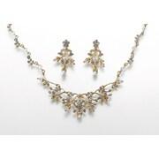 Lillian Rose™ Pearl and Rhinestone Gold Jewelry Set