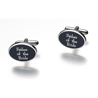 Lillian Rose™ Father Of Bride Cufflink, Black