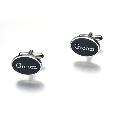 Lillian Rose™ Grooms Cufflink, Black