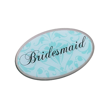 Lillian Rose™ Bridesmaid Oval Pin, Aqua