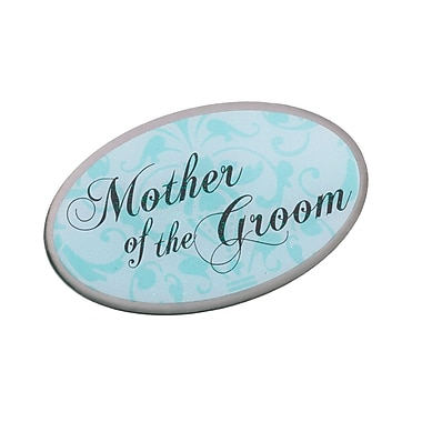 Lillian Rose™ Mother Of Groom Oval Pin, Aqua