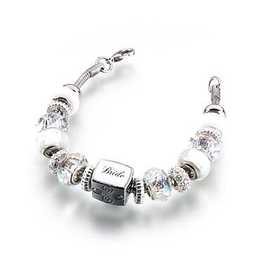 Lillian Rose™ Beaded Bride Charm Bracelet