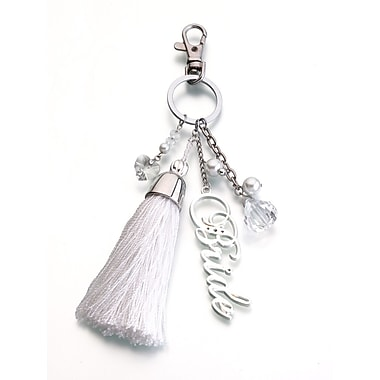 Lillian Rose™ Bride Key Fob, Silver