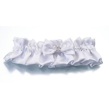 Lillian Rose™ Rhinestone Flower Garter, White