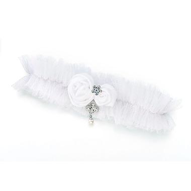 Lillian Rose™ Tulle Jeweled Garter, White