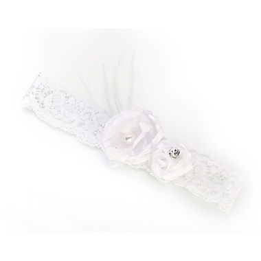 Lillian Rose™ Vintage Lace Garter, White