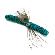 Lillian Rose™ Wedding Feather Garter, Peacock