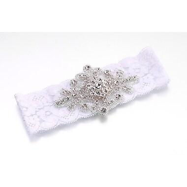 Lillian Rose™ Jeweled Garter, White