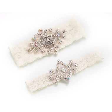 Lillian Rose™ Set Of 2 Jeweled Garter, Ivory