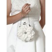 "Lillian Rose™ 7"" Flower Purse, Creamy White"