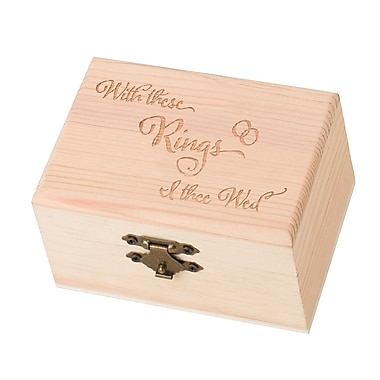 Lillian Rose™ Wooden Ring Bearer Box, With This Ring