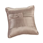 "Lillian Rose™ 6"" x 6"" Pleated Ring Pillow, Taupe"