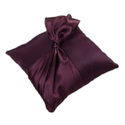 "Lillian Rose™ 7 1/2"" Satin Ring Pillow, Plum"