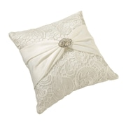 "Lillian Rose™ 7"" Vintage Lace Ring Pillow, Cream"