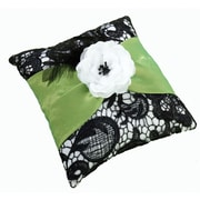 "Lillian Rose™ 7"" Ring Pillow, Green/Black"